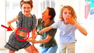BELLY PIERCED PRANK ON OVER PROTECTIVE PARENT | Sabre gets revenge