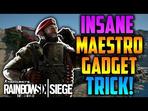 CRAZY *NEW* OP MAESTRO GADGET TRICK! & BEST SPAWN KILL SPOT! - Rainbow Six Siege