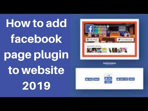 How to add facebook page plugin to website 2019