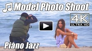 PIANO JAZZ Beautiful Sexy Fashion MODEL PHOTO SHOOT Smooth Instrumental 4K Music Video Photography