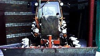 Чистка снега с трактором ЛТЗ-60 ПОСЛЕ МЕТЕЛИ!