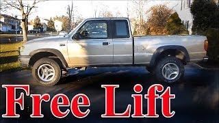 Lift Your Truck for Free via a T Bar Crank (torsion bar)