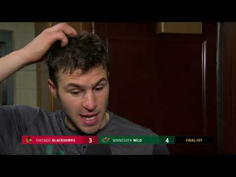 Zach Parise on the Wild's come-from-behind win vs. Blackhawks