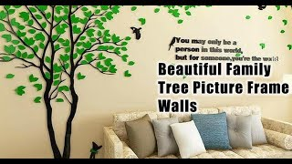 Beautiful Family Tree Picture Frame Walls