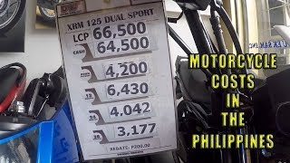 Motorcycle prices in the Philippines.