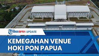 Penampakan Venue Hoki Indoor dan Outdoor untuk PON XX Papua, Pegunungan Cycloop Jadi Latar Belakang