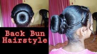 😍Beautiful Back Bun Hairstyle For Girls/For Special Occasions 👌 #Hairstyles #PartyHairstyles #Makeup