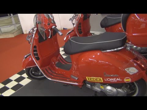 Piaggio Vespa GTS 300 Super Tour of Europe Exterior and Interior