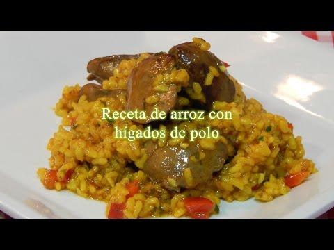 Receta fácil y rápida de arroz con hígados de pollo