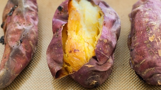 how to bake sweet potato in oven with foil