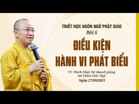 Điều kiện hành vi phát biểu l Triết học ngôn ngữ Phật giáo