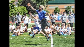 Giants' Odell Beckham wows crowd at football camp