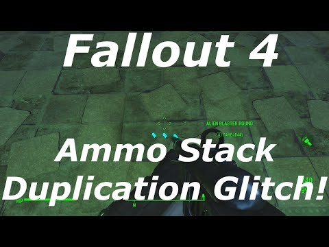 Fallout 4 Ammo Stack Duplication Glitch AFTER PATCH! Unlimited / Infinite Ammo! (Fallout 4 Glitches)