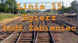 preview picture of video 'Train ride / Przejazd pociągiem TLK Zgierz - Łodź Żabieniec, linia 15'