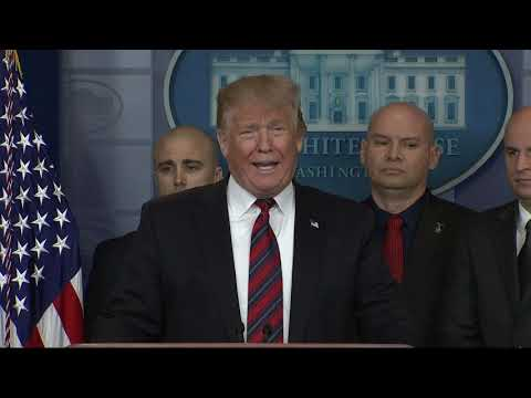 On day 13 of a partial government shutdown Thursday, President Donald Trump made his first appearance in the White House briefing room to push his position on border security. (Jan 3.)