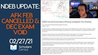 AFK Feb CANCELLED & Dec exam VOID: Thoughts & Analysis 02/27/21   NDEB UPDATE