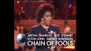 Aretha Franklin Chains of Fools with Rod Stewart Elton John Smokey Robinson 1993