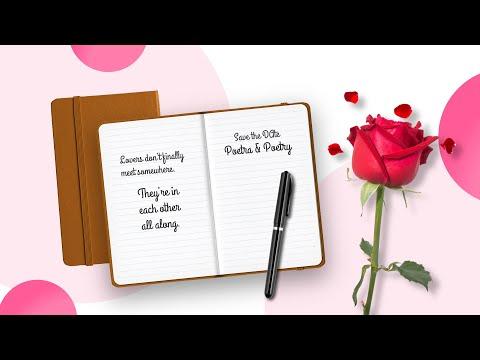 Video Wedding Invitation Pink