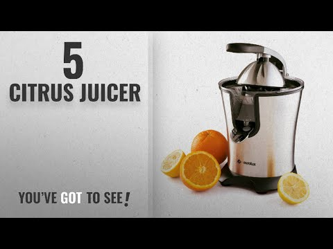 Top 10 Citrus Juicers [2018]: Eurolux Electric Citrus Juicer Stainless Steel 160 Watts Of Power Soft