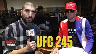 Colby Covington threatens to leave UFC for WWE | UFC 245 Media Day | ESPN MMA