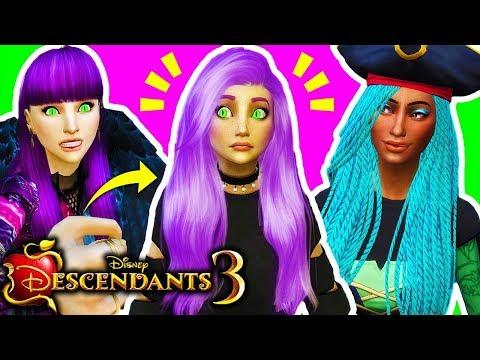😈MAL AND BEN KICK OUT THEIR DAUGHTER & SON FROM AURADON?!😱MAL VS UMA!🔥 Sims 4 Descendants 3 #6!