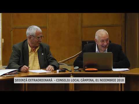 Sedinta extraordinara Consiliu Local Campina 01 11 2018