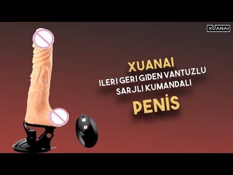 Xuanai İleri Geri Giden Vantuzlu Şarjlı Kumandalı Penis