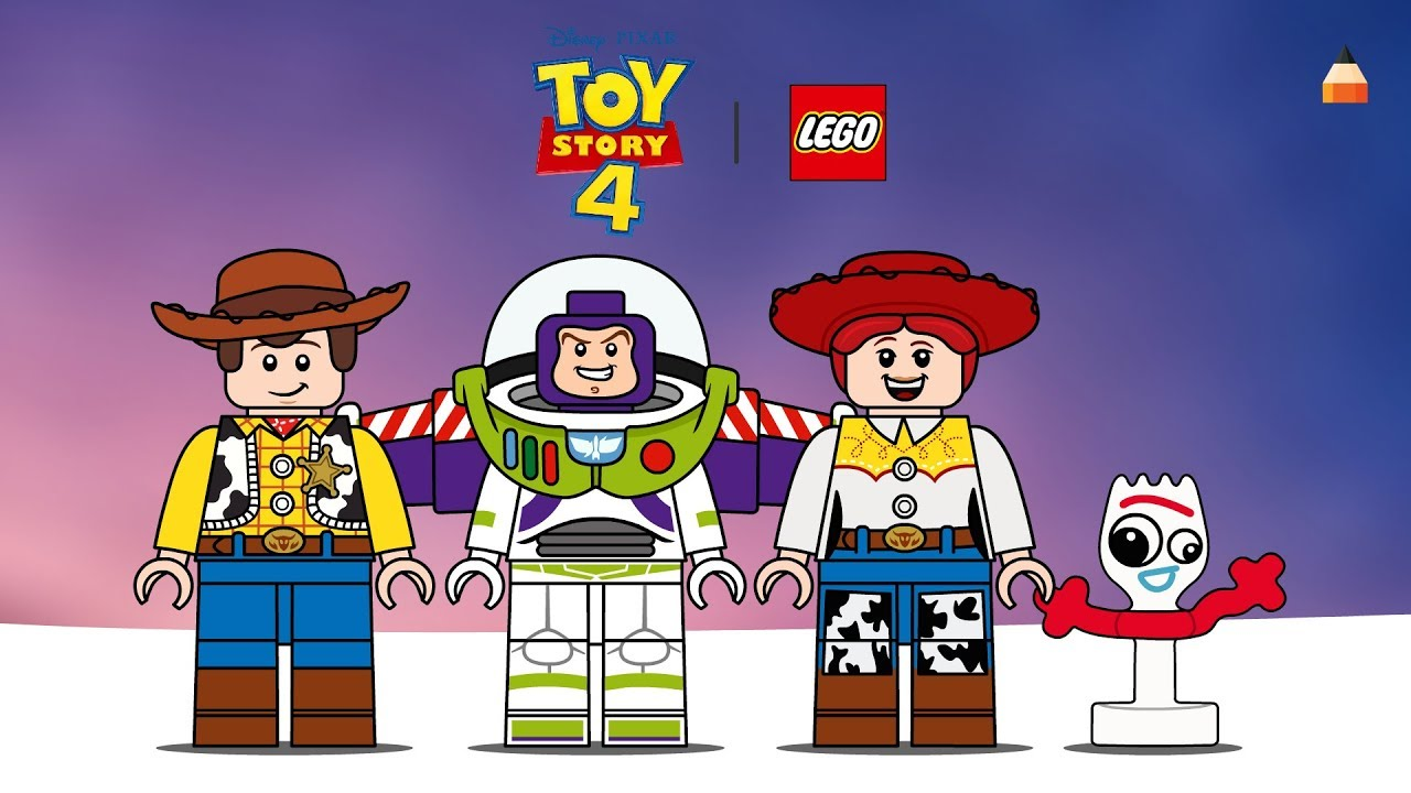 Toy Story 4 Drawing Lego Toy Story Drawing Lego Sheriff Woody Jessy Buzz Lightyear