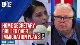 Nick Ferrari challenges Home Secretary over immigration plans