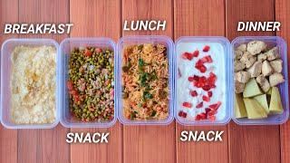 Meal Prep 3,000 calories in 30mins !! ( BULKING DIET ) • 5 meals 🇮🇳