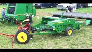 Amish Baling Hay Without Engine Power