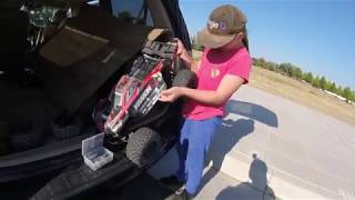 """Arrma Outcast 6s """"Tbone Wingmount Test And Fail?"""" With Kraton And Angie D!!!"""