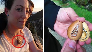Man Gives His Girlfriend A Necklace  1,5Years Later, She Breaks Down When She Realizes What's Insid