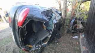 preview picture of video 'Pijany spowodował wypadek w Starych Babicach w dniu 05.05.2013'