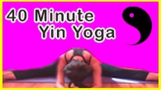 Yin Yoga Class ☯  (40 Minutes) - Deep stretch yoga for cyclists, runners, hikers, athletes ☯