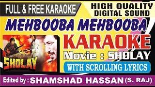 Mehbooba Mehbooba Karaoke Sholay With Scrolling Lyrics