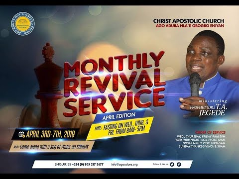 MONTHLY REVIVAL SERVICE 5/4/2019
