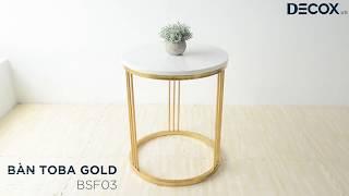 [Decox.vn] Bàn Toba gold - BSF03