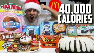 40,000 CALORIE CHRISTMAS CHEAT DAY! - Video Youtube