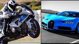Bugatti Chiron vs BMW S1000RR (0-300 km/h)