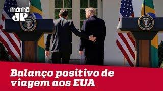 Bolsonaro faz balanço positivo de viagem aos EUA