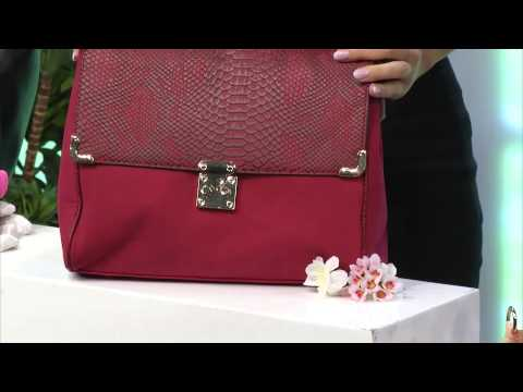 Carlo Milano Damenhandtasche, schwarz