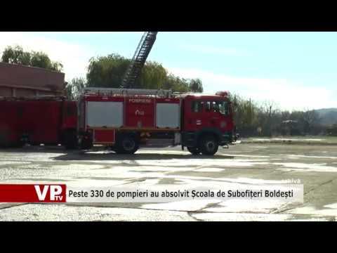 Peste 330 de pompieri au absolvit Școala de Subofițeri Boldești