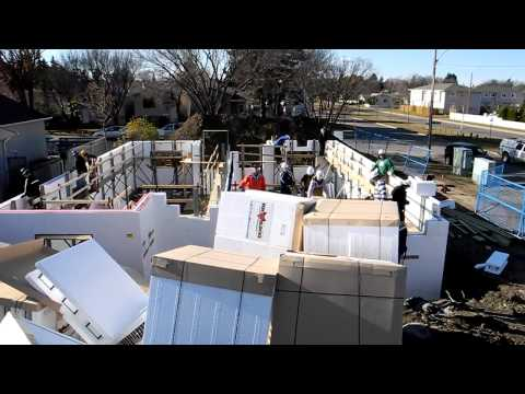 Fox Blocks Insulated Concrete Forms on Duplex Project for Hab Humanity.wmv