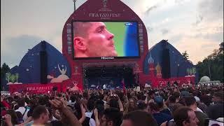 Фан-зона на Воробьевых горах празднует победу сборной Франции
