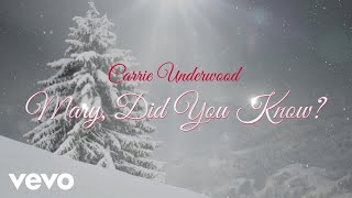 Carrie Underwood - Mary, Did You Know? (Audio)