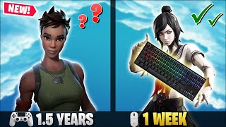 1 Week Progression From PS4 to PC (Controller to Keyboard & Mouse) | Fortnite Battle Royale