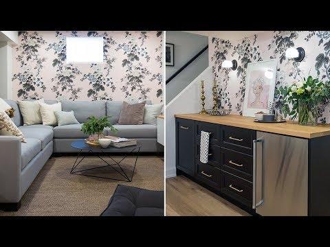 Interior Design: Girly-Chic Basement Makeover