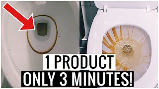How to Remove HARD WATER STAINS from Toilet Bowl in 3 MINUTES !!  (Cleaning Hacks) | Andrea Jean