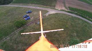 Flying Easyglider with test camera hobbyking, june 2011
